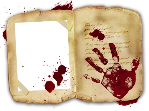 Blood, Hand Print on Diary