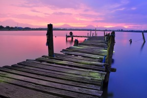 Don't jump off the end of a pier. Sit down on it and pray.