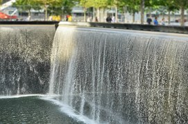 World Trade Center/911 Memorial fountain