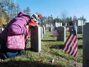 soldiers widow, grave